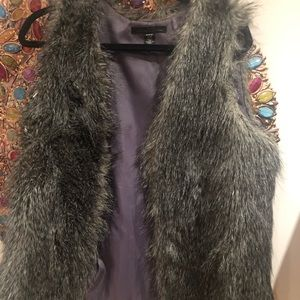 Faux fur grey vest by Kenneth Cole